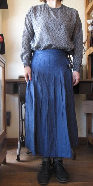 オニール巻きスカートへリボン