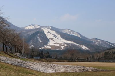 スキー場残雪