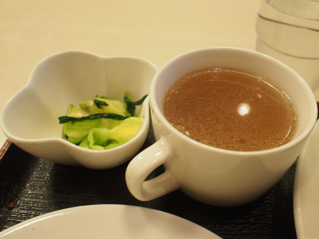 スープと漬物