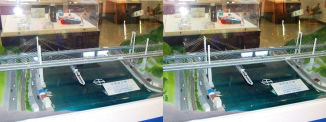 新尾道駅 尾道大橋・新尾道大橋 模型①(交差法)