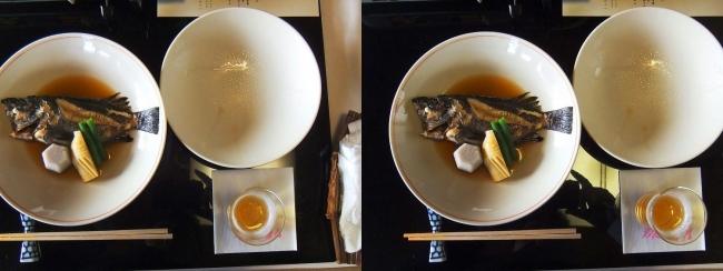 料亭旅館 魚信 メバル煮付け(交差法)
