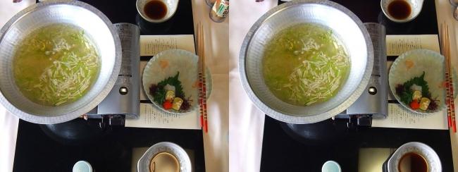 料亭旅館 魚信 オコゼしゃぶしゃぶ(交差法)