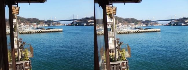 料亭旅館 魚信 須磨の間からの尾道水道⑥(平行法)