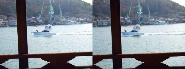 料亭旅館 魚信 須磨の間からの尾道水道④(交差法)