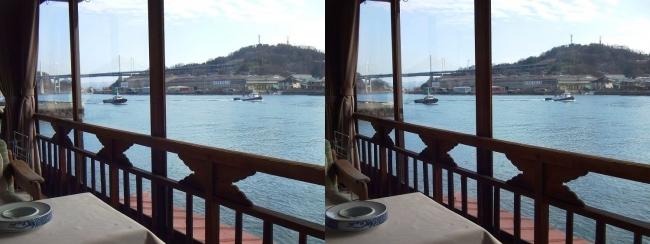 料亭旅館 魚信 須磨の間からの尾道水道②(交差法)