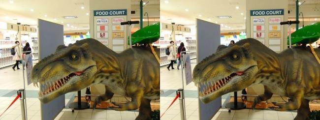 イオン東大阪店 恐竜ロボット ティラノサウルス①(交差法)