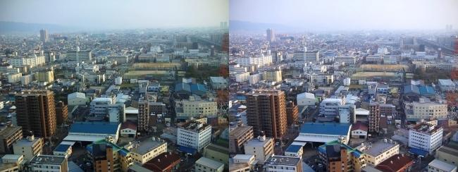 東大阪市役所 展望ロビーからの眺望①(交差法)
