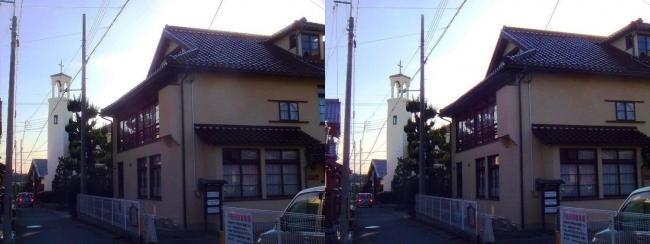アンドリュース記念館・近江八幡教会(平行法)