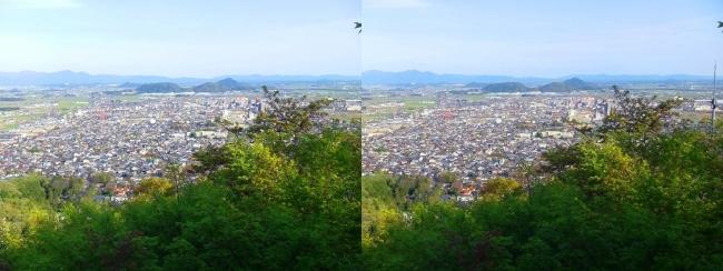 八幡山山頂 展望館③(交差法)