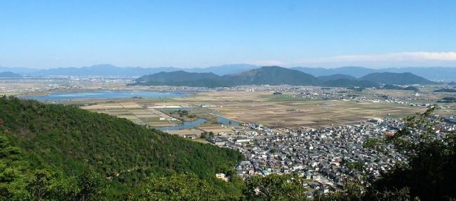 八幡山山頂 北の丸跡からの眺望