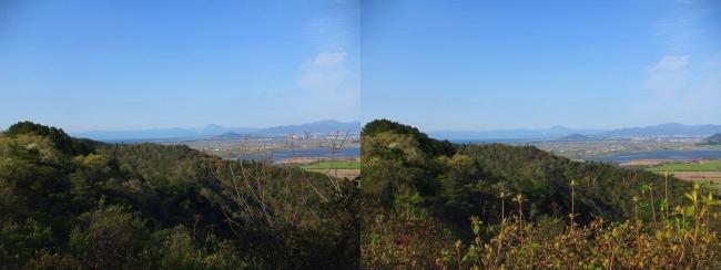 八幡山山頂 北の丸跡③(交差法)