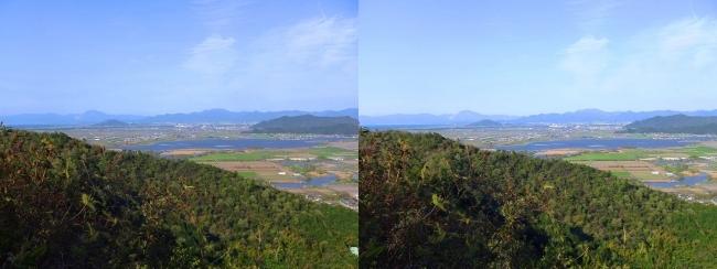 八幡山山頂 北の丸跡①(平行法)