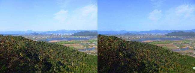 八幡山山頂 北の丸跡①(交差法)