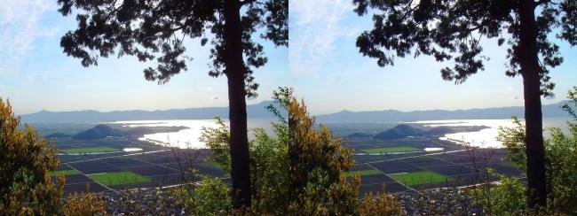 八幡山山頂 西の丸跡①(平行法)