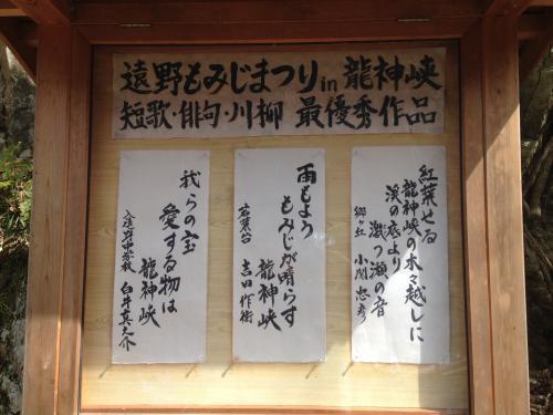 【春間近の龍神峡】・12