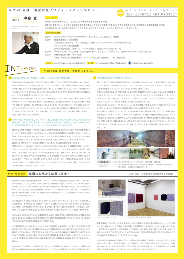 HUB IBARAKI ART PROJECT裏1中島麦nakajimamugi