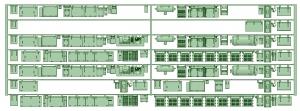 6000系床下機器 6014F_6024F 8連【武蔵模型工房 Nゲージ 鉄道模型】