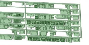 6000系床下機器 6014F_6024F 8連【武蔵模型工房 Nゲージ 鉄道模型】-1