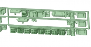 6000系床下機器 6021F 3連【武蔵模型工房 Nゲージ 鉄道模型】-1