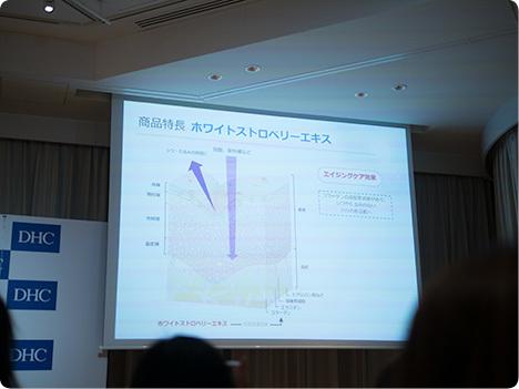 DHC 薬用ホワイトニングセラム 発表会
