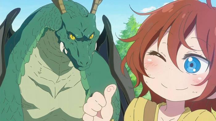 【小林さんちのメイドラゴン】 第12話 キャプ感想 お酒を飲めばドラゴンも友達w トールちゃんとの出会いと過去話♪