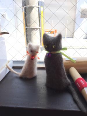 猫毛フェルト人形初級編☆