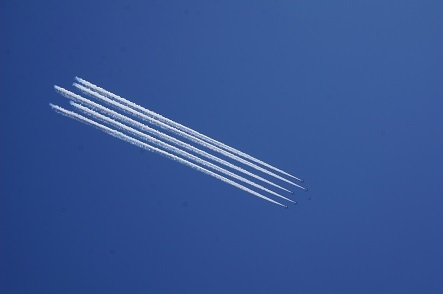 ブルーインパルス、6年越しに飛行、実現させてくれて