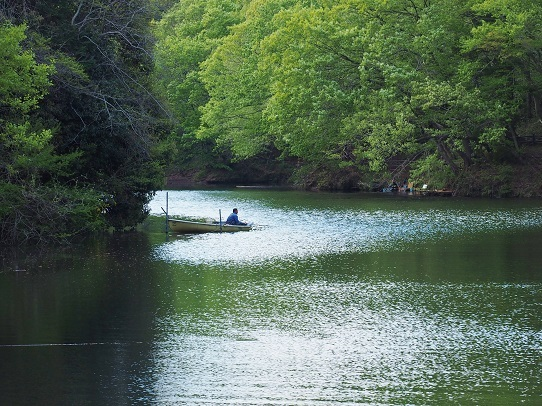 震生湖釣り