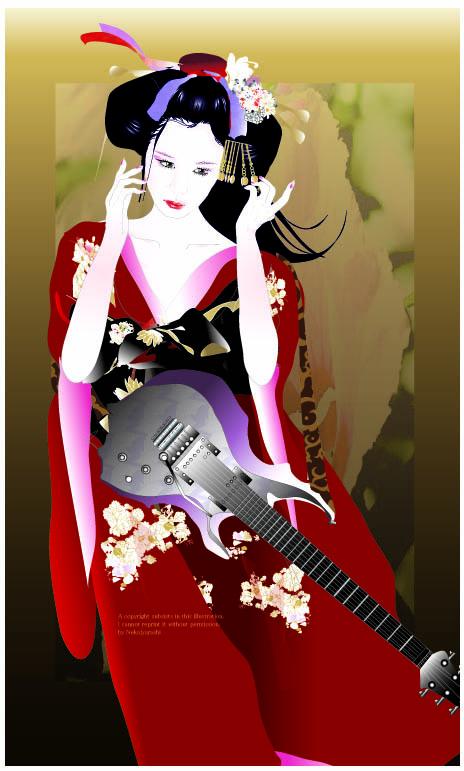 京屋 芸者とギター最終A