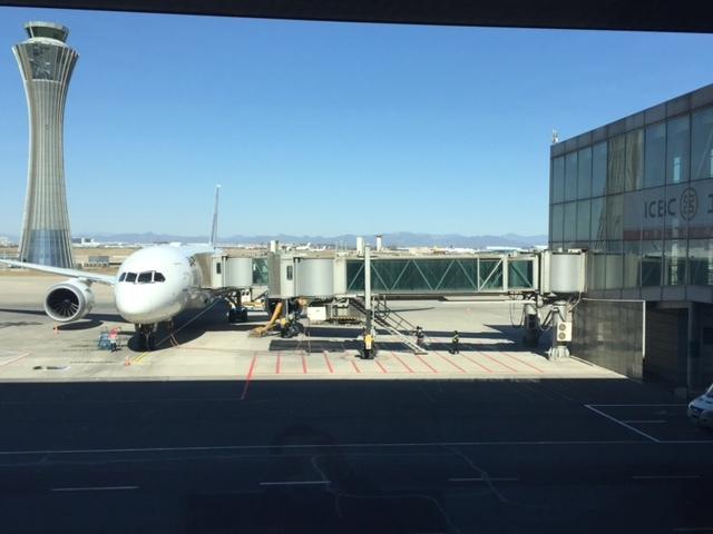 帰国飛行機