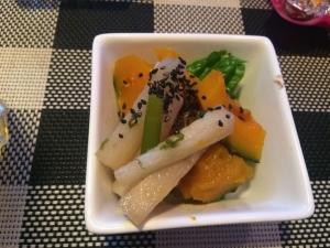 415純ママお手製のかぼちゃの煮物と山芋
