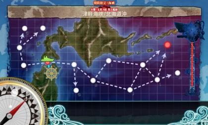 艦これ 2017年春イベント E-1 MAP
