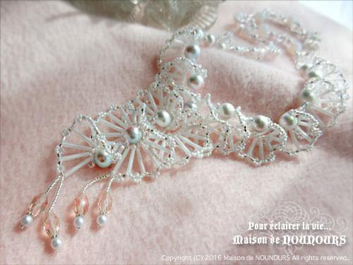 MIYABI ホワイト ネックレス