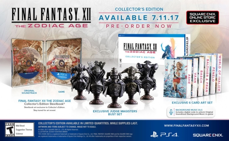 Final Fantasy XII The Zodiac Age Limited Steelbook Edition スチールブック