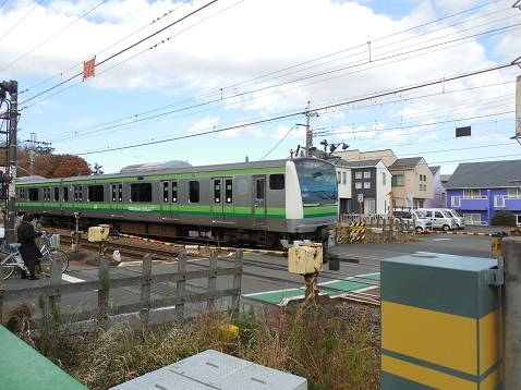 横浜線の成瀬踏切@町田市g