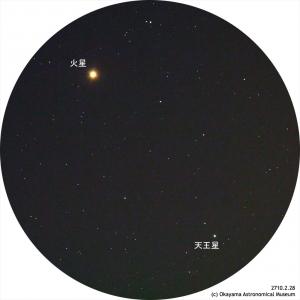 火星と金星20170228