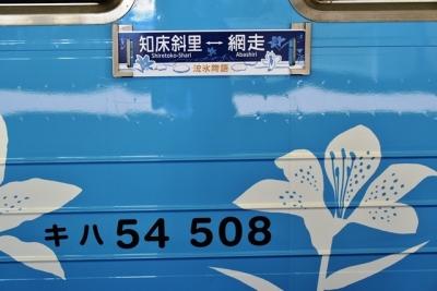 キハ54-508オホーツクブルーの車両