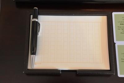 東京ステーションホテル原稿用紙柄のメモ帳