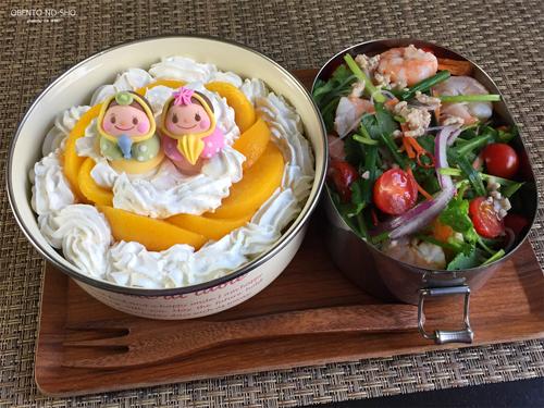 黄桃ホットケーキ弁当ひな祭りver.