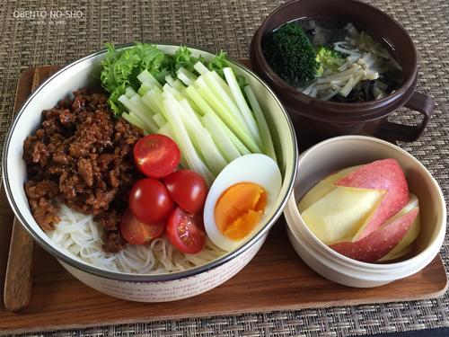 セロリジャージャー素麺弁当