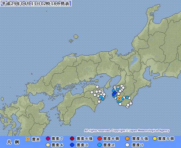 和歌山県で最大震度3の地震発生 M3.8 震源地は和歌山県南部 深さは約30km