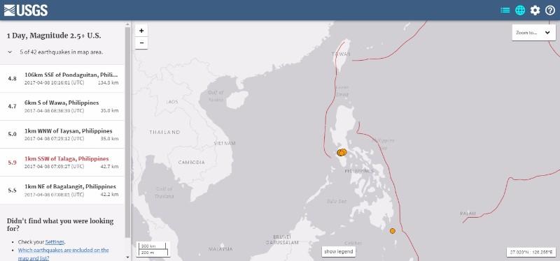 【前触れ】フィリピンの首都マニラで連続して「M5.0」以上の地震が連発