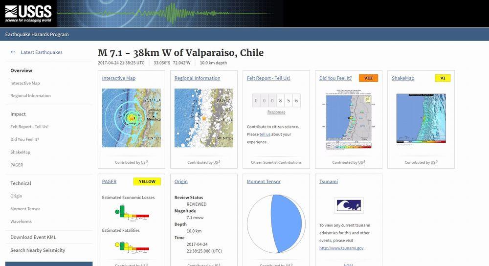 【プレート】チリ沿岸で「M7.1」の地震が発生…M5クラスの余震が続く