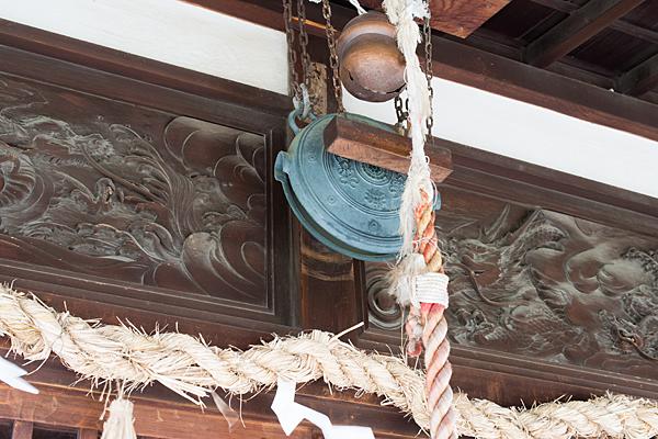 蛇池神社拝殿彫り物