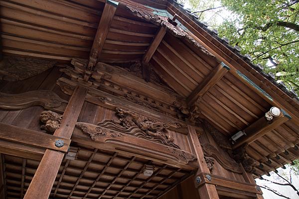 比良六所神社舞殿彫り物