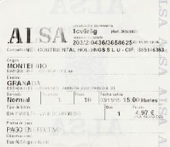 billete de Montefrio a Granada