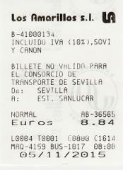 billete de Sevilla a Sanlucar