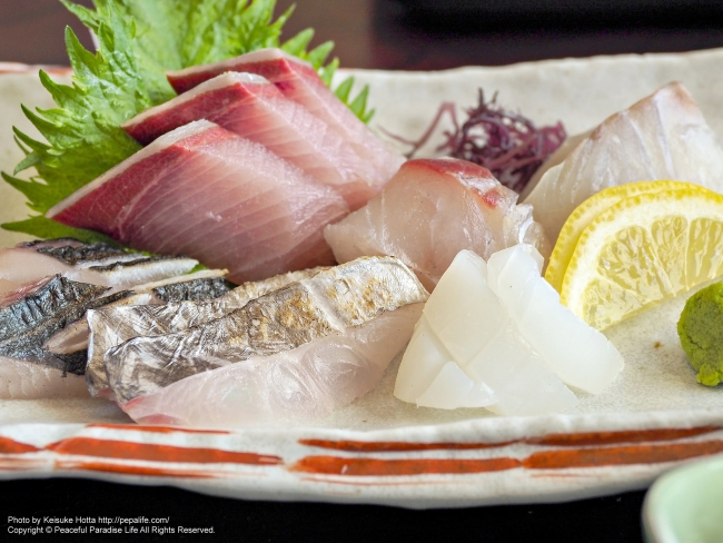 プリップリでモチッモチな地魚のお刺身