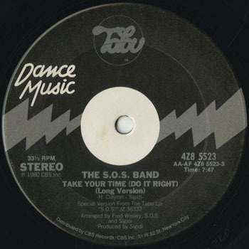DG_SOS BAND_TAKE YOUR TIME DO IT RIGHT201704