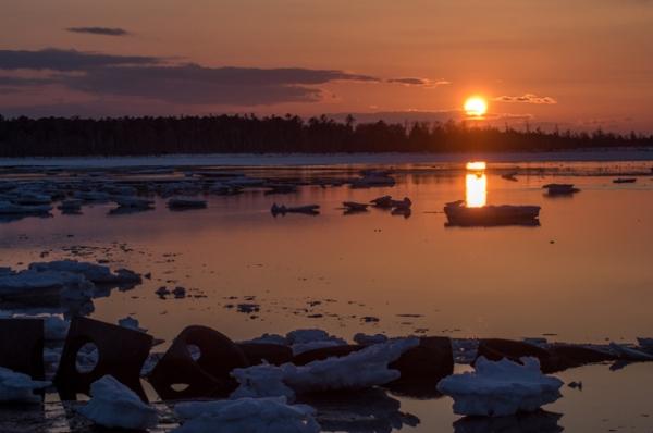 春国岱の夕日
